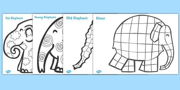 elmer patterns colouring sheets pinteres. Black Bedroom Furniture Sets. Home Design Ideas