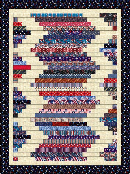 Quilting Land Strip Quilt Patterns Strip Quilts Patriotic Quilts