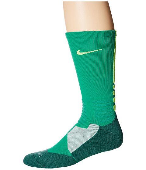 Nike Hyperelite Basketball Crew Emerald Green/Volt/Volt - Zappos.com Free Shipping BOTH Ways