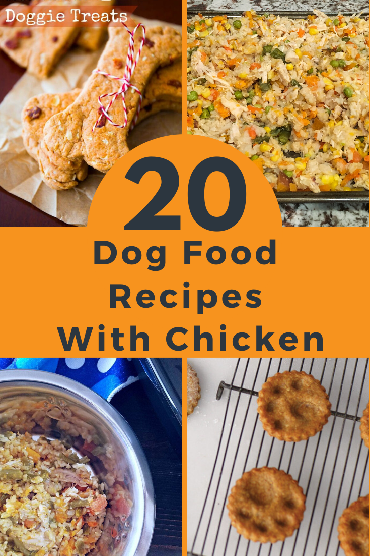 20 Homade Dog Food Recipes 20 dog food recipes with chicken - wowpooch in 2020   dog