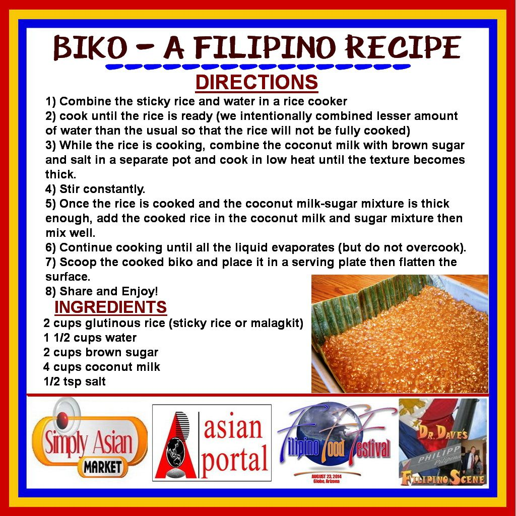 Biko a filipino recipe biko is my all time favorite for Simple yet delicious dinner recipes
