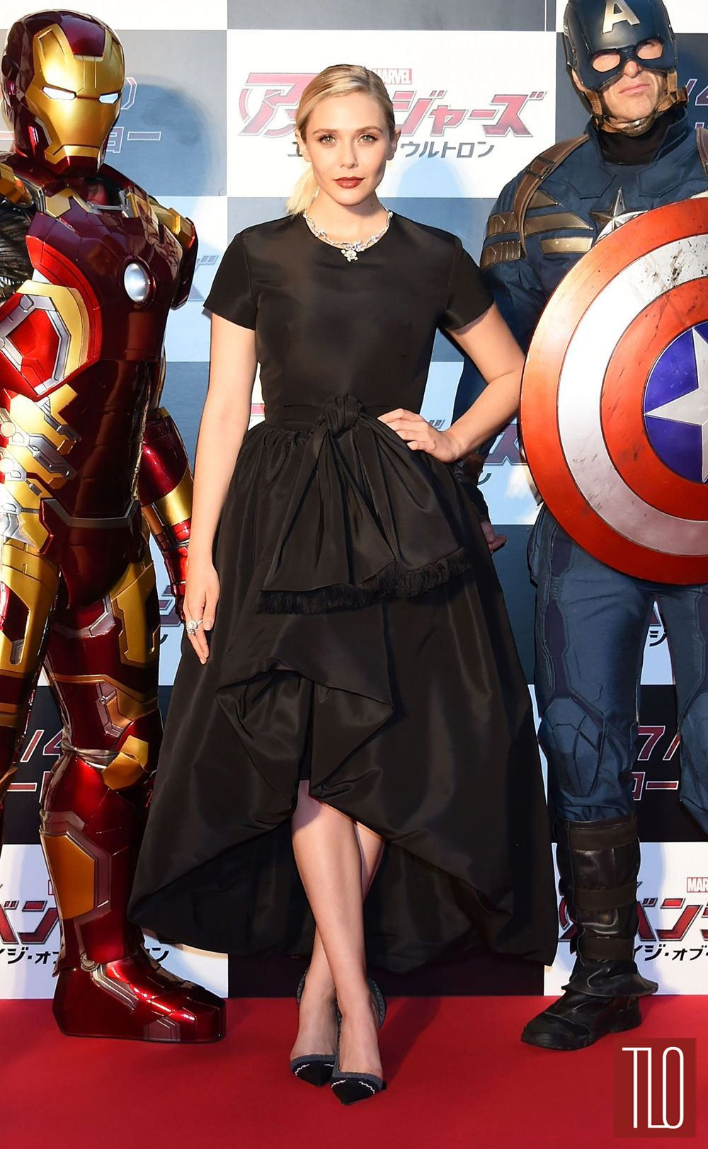 Elizabeth Olsen At The Avengers Age Of Ultron Tokyo Premiere Tom Lorenzo Fabulous Opinionated Elizabeth Olsen Style Elizabeth Olsen Celebrity Dresses