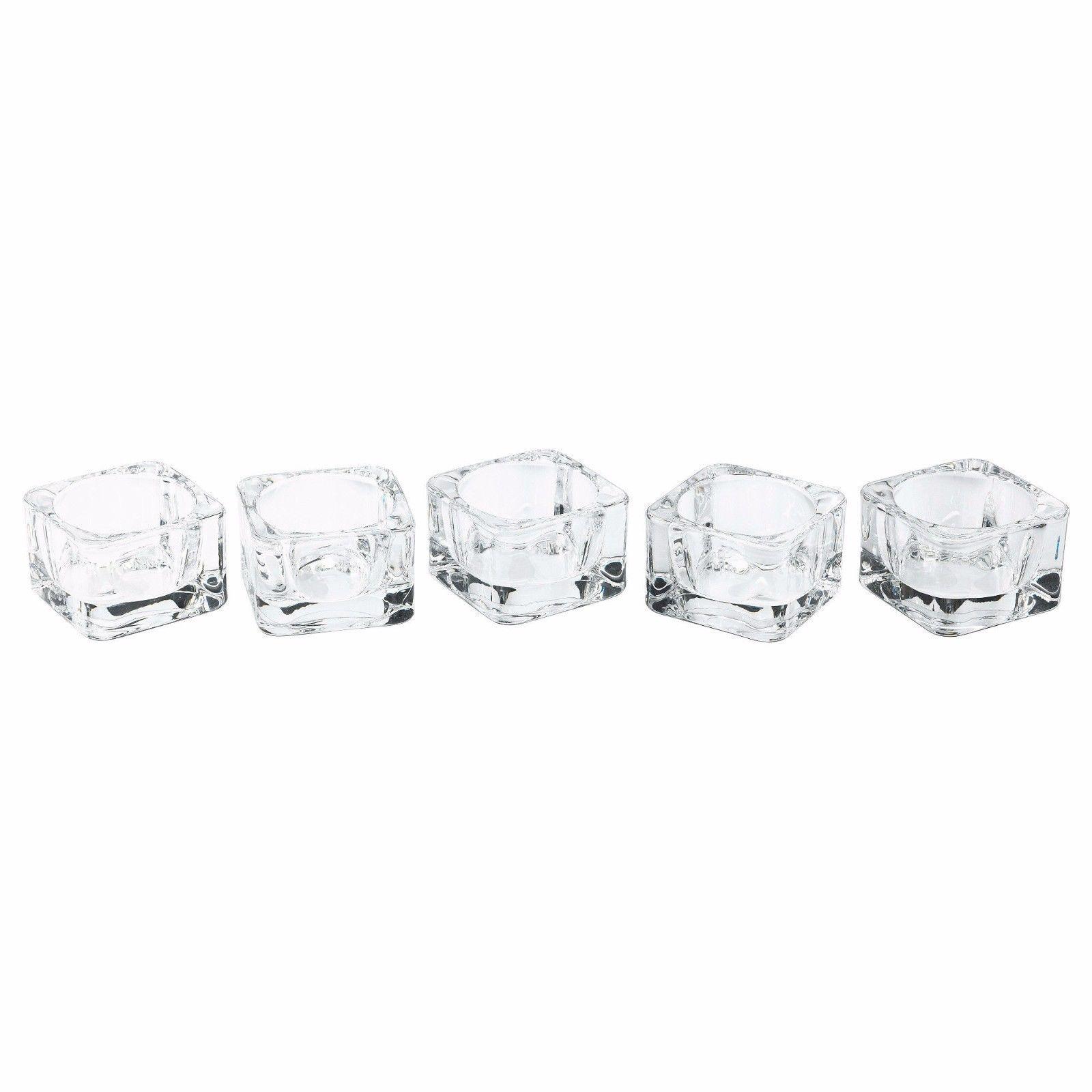 Glasig tealight holder glass rounded corner pack of candle holders