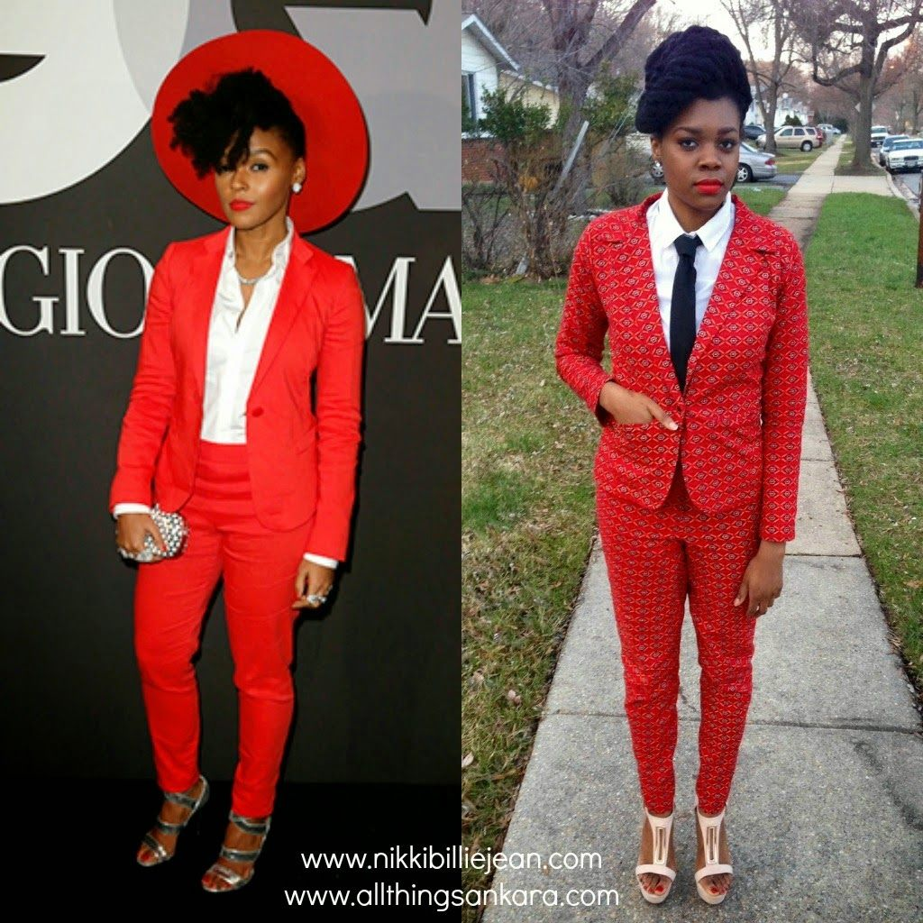 All Things Ankara: Nikki Billie Jean: Style Inspiration Ankara Suit Inspired by Janelle Monae