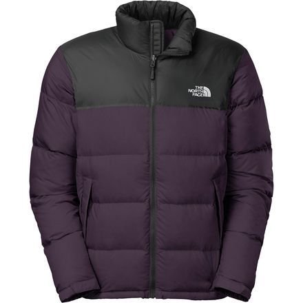 The North Face Nuptse Down Jacket Men S Dark Eggplant Purple Asphalt Grey North Face Nuptse Jacket North Face Jacket Mens Mens Jackets