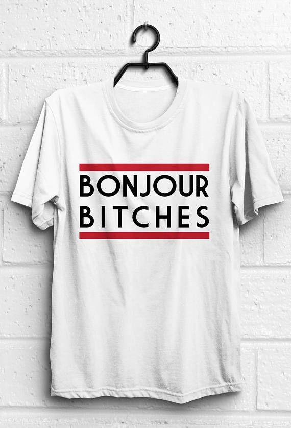 597e584cbcd3 Bonjour shirt Bonjour t shirt Funny quote t shirts