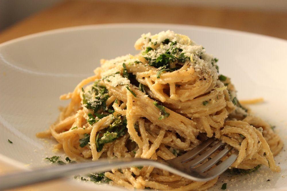 Spaghetti a la Caesar Whole food recipes, Vegan recipes
