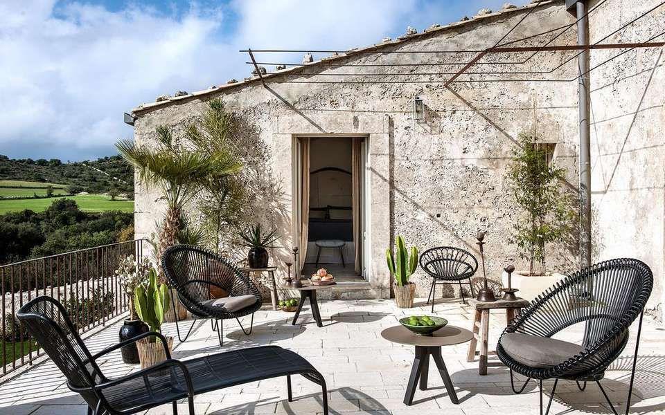 Dimora Delle Balze Sicile, Decoration design, Terrasse