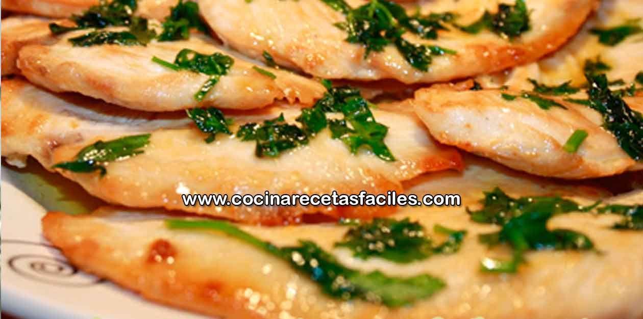 Receta de filetes de pollo con salsa de limón