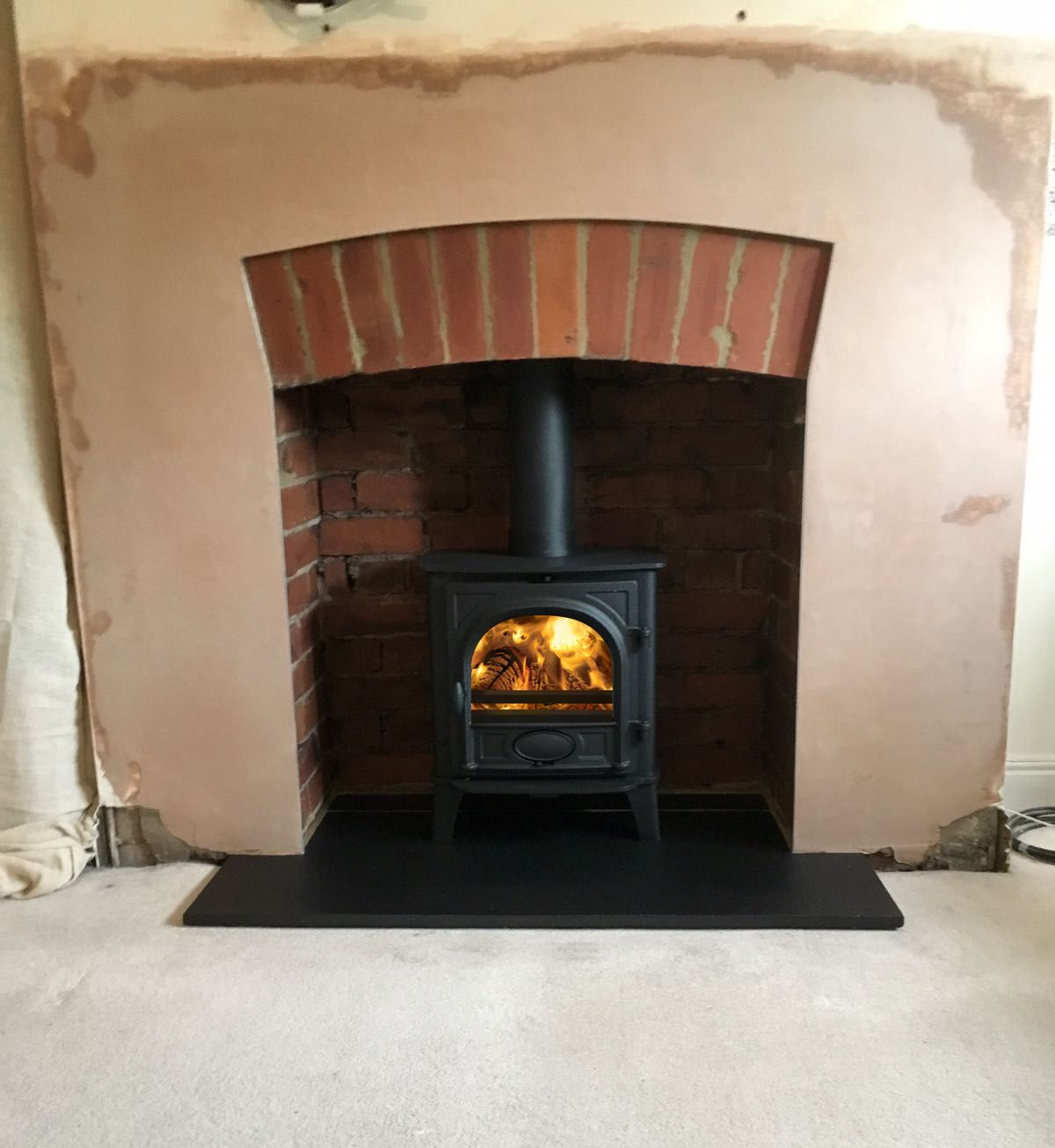 stovax stockton 5 wood burning stove knocked out fireplace to