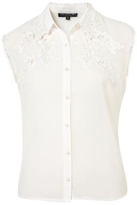 Topshop Embroidered Shirt