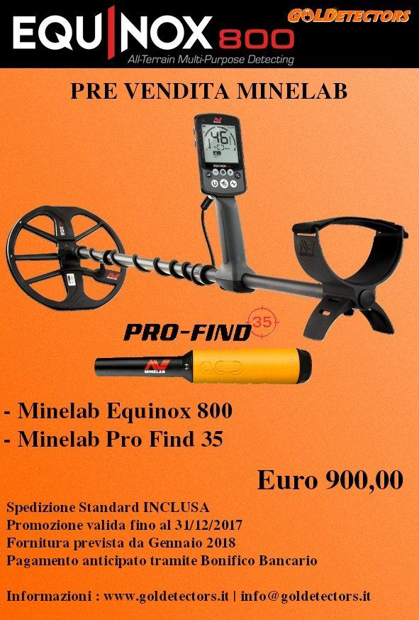 Metaldetector Minelab Equinox 800 | MetalDetector e