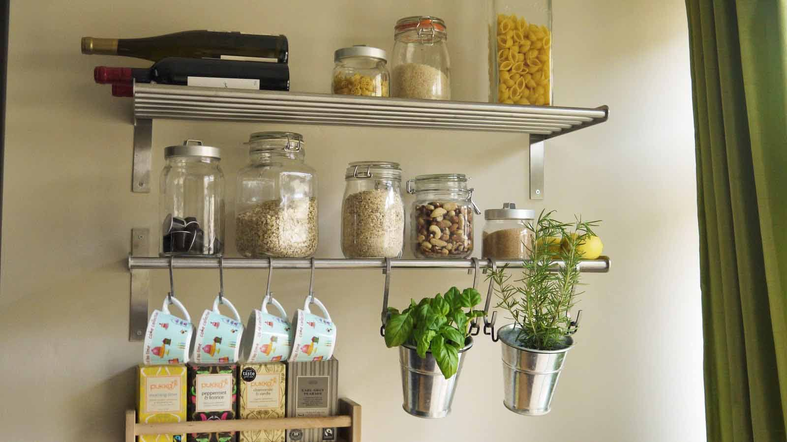 Kitchen Storage Ideas Shelves Jars Racks And Organizers Wall