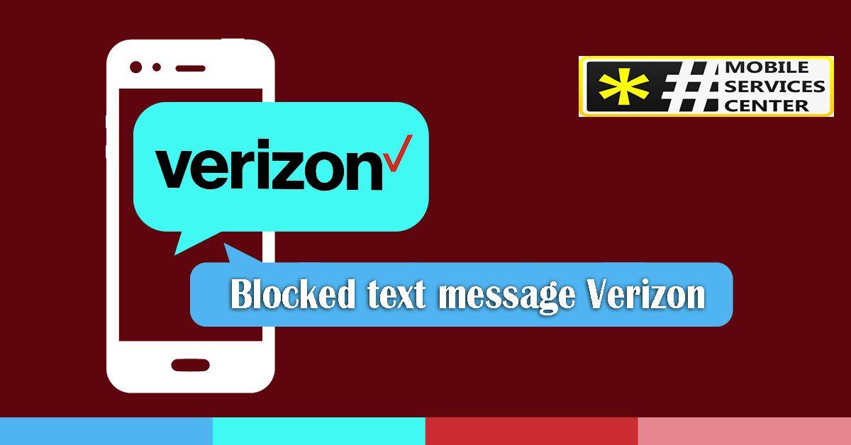 Blocked Text Message Verizon Block Text Messages Text Messages Messages