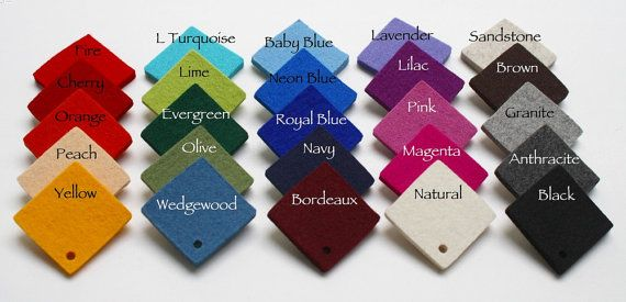Yard Of 5mm Thick Wool Felt Any Color 36 X 56