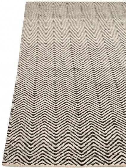 Teppich Läufer Ives Schwarz/Weiß