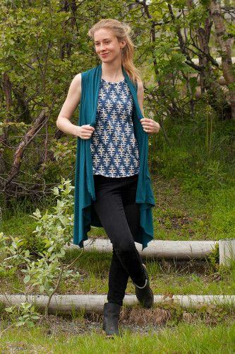 Sleeves Wrapped Cardigan   Indiesew.com   Indie Sewing Creations ...