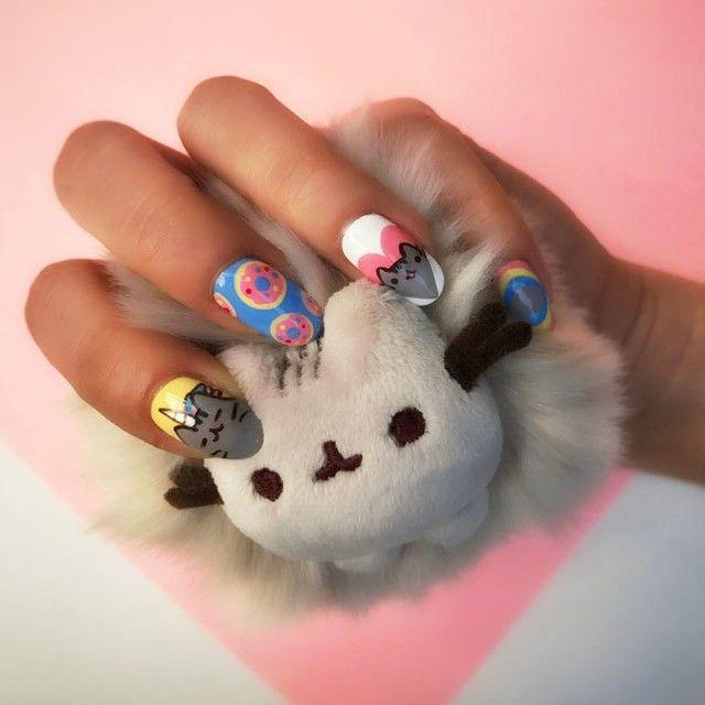 A purrrr-fect #manimonday with @MissPopNails @Pusheen nail art Shop ...