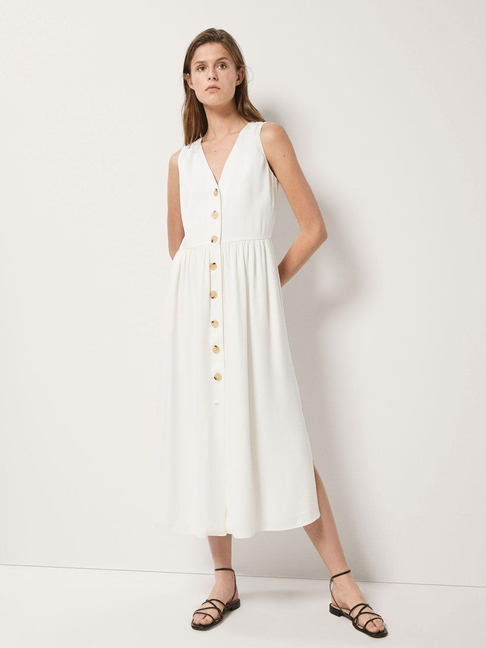 dbf425468 BUTTONED DRESS - Women - Massimo Dutti