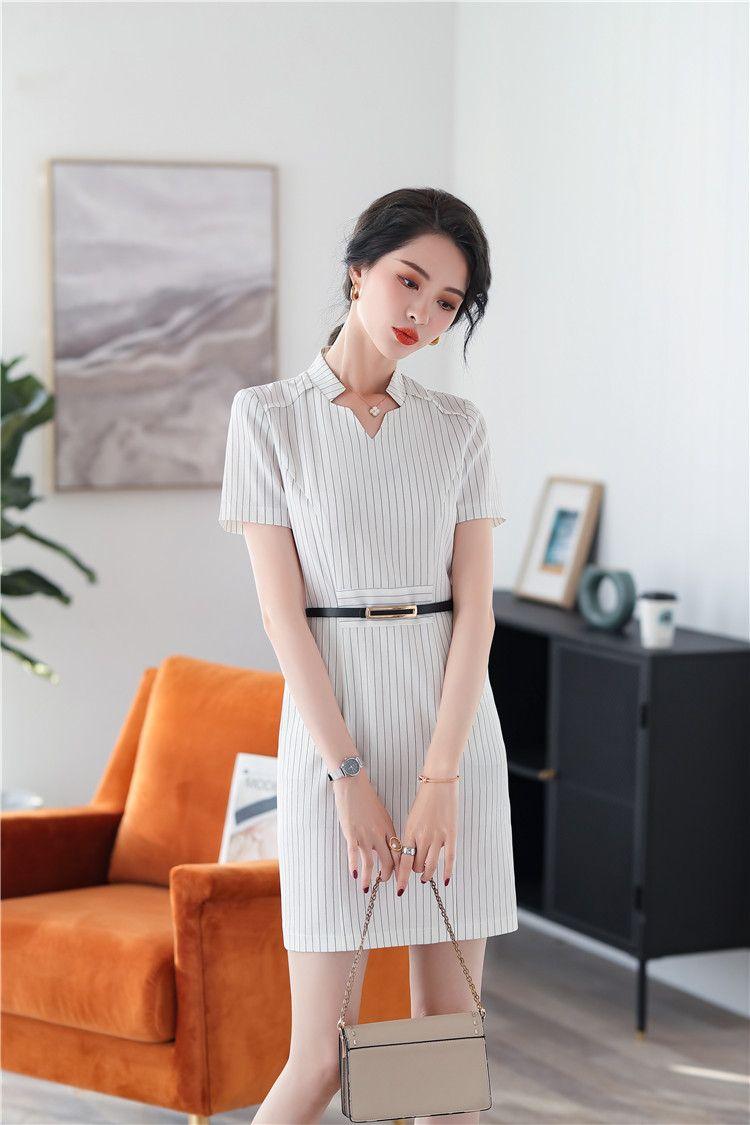 Office Suit Half Sleeve Formal Ladies Summer Dress Office Uniform Summer Dresses For Women Office Uniform Summer Dresses [ 1125 x 750 Pixel ]