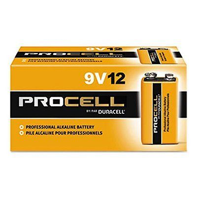 Duracell Procell 9 Volt Batteries Pack Of 12
