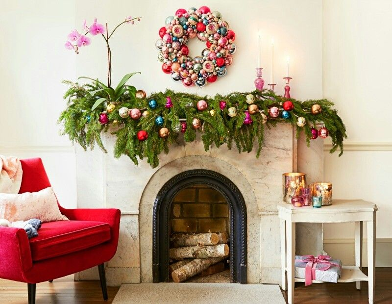 Pin by Mary Eisner on Holiday Decorating Pinterest Holiday - christmas decorations for mantels