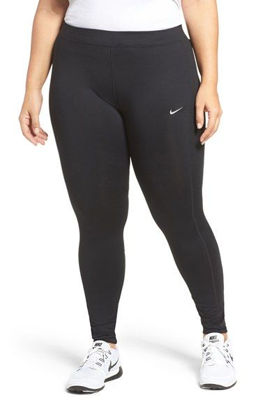 balsa velocidad A nueve  Free shipping and returns on Nike Power Essential Dri-FIT Running Tights  (Plus Size) at Nordstrom.c… | Running tights, Plus size leggings, Plus size  womens clothing