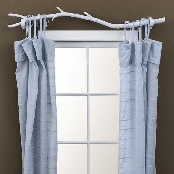 Nature decoration - tree limb for curtain rod Home Decor - deko ideen vorhange wohnzimmer