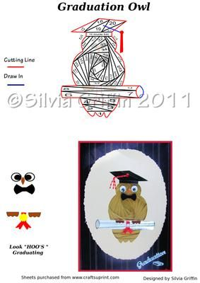 Graduation Owl Iris Folding on Craftsuprint - Add To Basket!