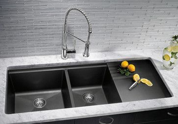 Great Sink With Drainboard. White Kitchen Sink, Dark Granite Kitchen, Black  Farmhouse Sink