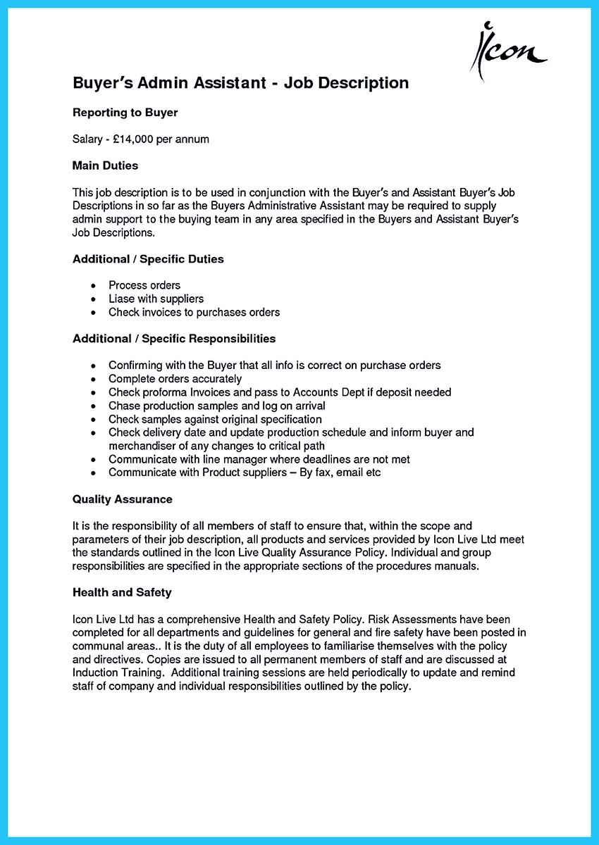 Worth Writing Assistant Buyer Resume To Make You Get The Job