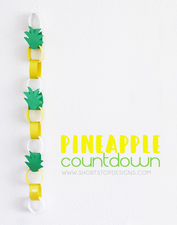 DIY Pineapple Countdown