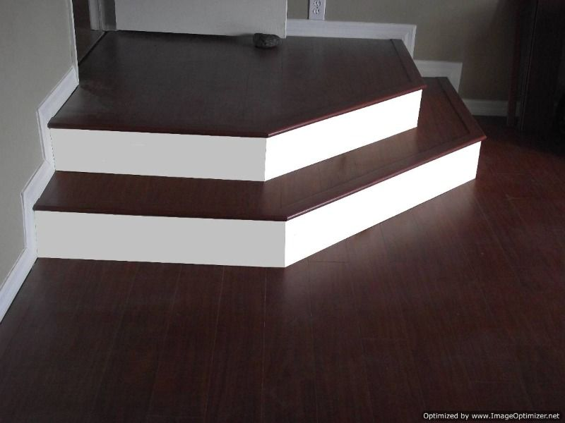 Installing laminate flooring on angled stairs use construction