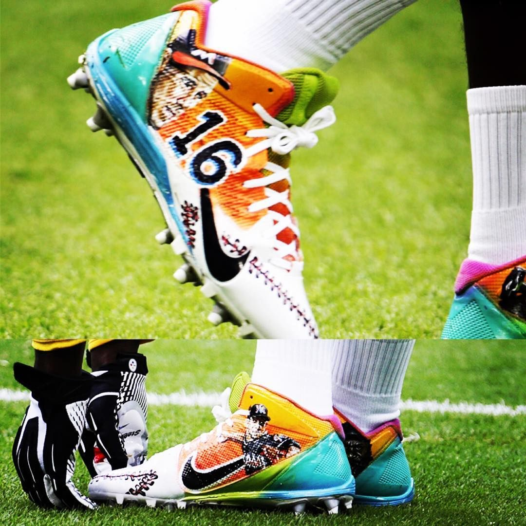 Steelers Star Antonio Brown Honors Jose Fernandez With These Beautiful Cleats Jdf16 Best Player Antonio Brown Jose Fernandez