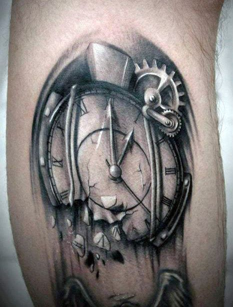 40 Melting Clock Tattoo Designs For Men Salvador Dali Ink Ideas Clock Tattoo Clock Tattoo Design Broken Clock Tattoo