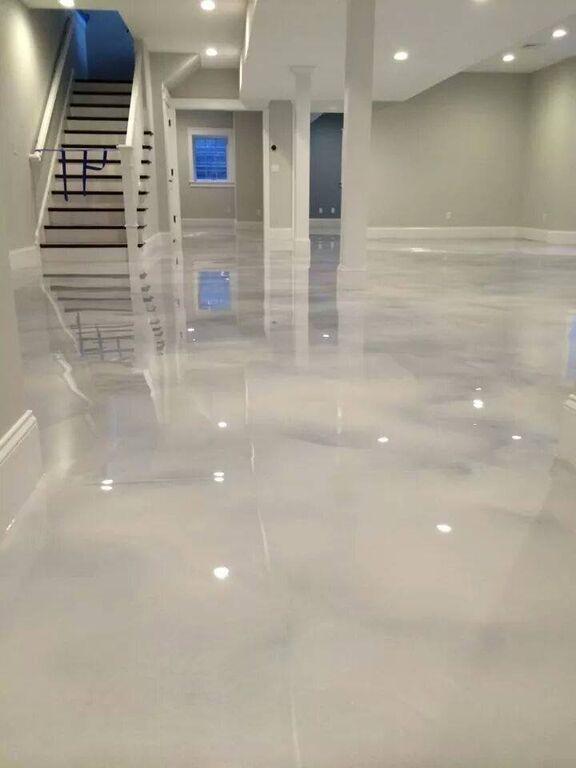 Amazing Basement Flooring Ideas Epoxyfloorbasement Plancher Epoxy Renovation De Sous Sol Beton Design