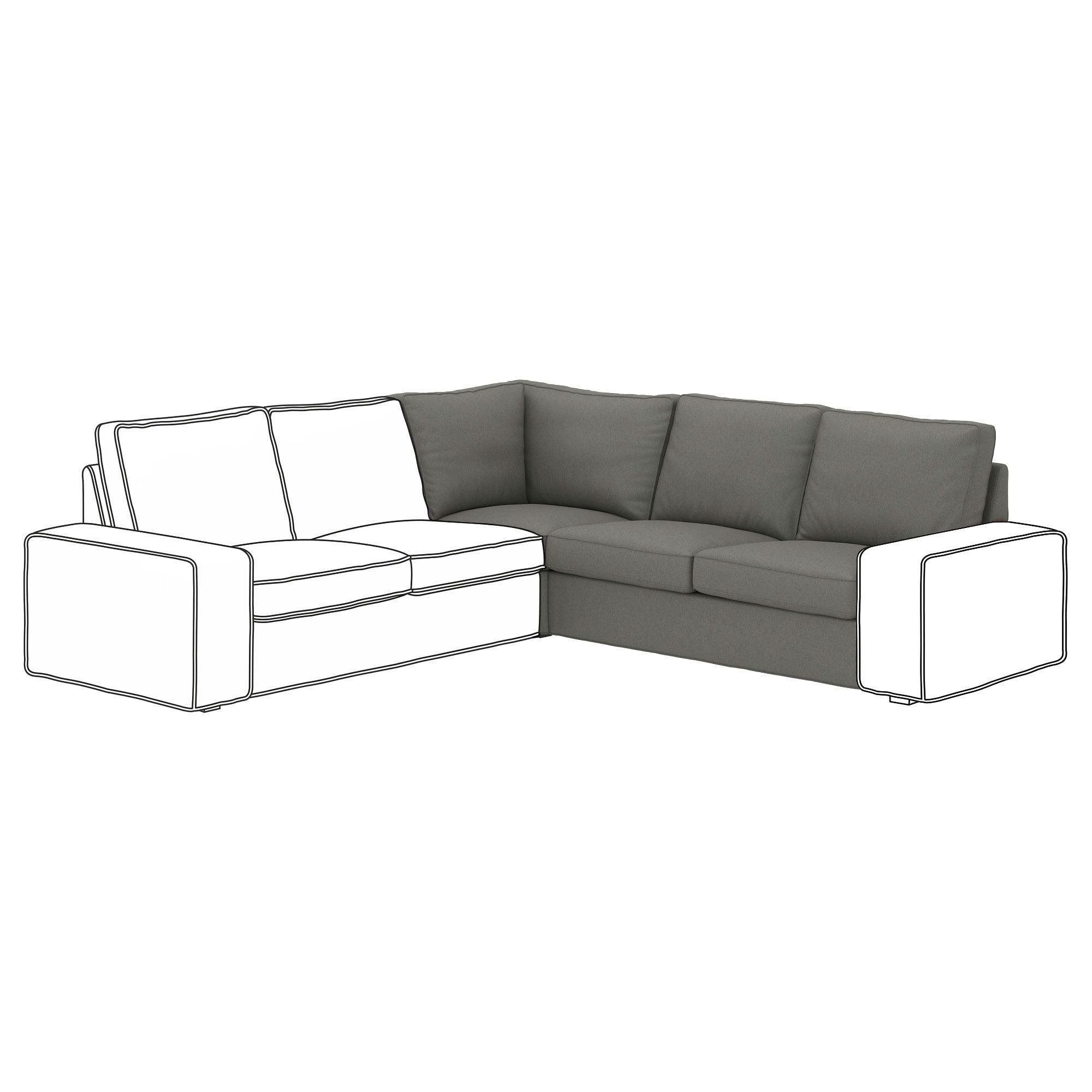 IKEA KIVIK Borred GrayGreen Corner section Green, grey