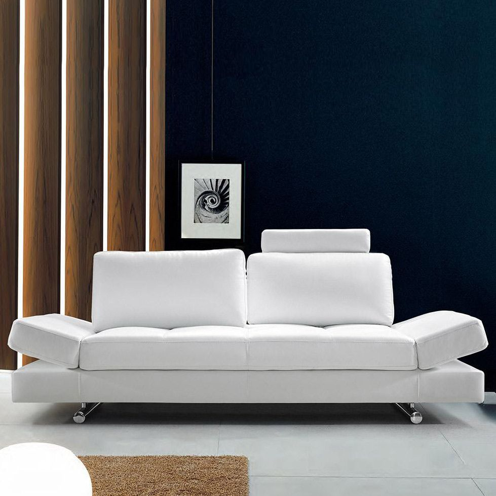 Furniture And Decor For The Modern Lifestyle White Leather Sofas Modern White Leather Sofa Leather Sofa