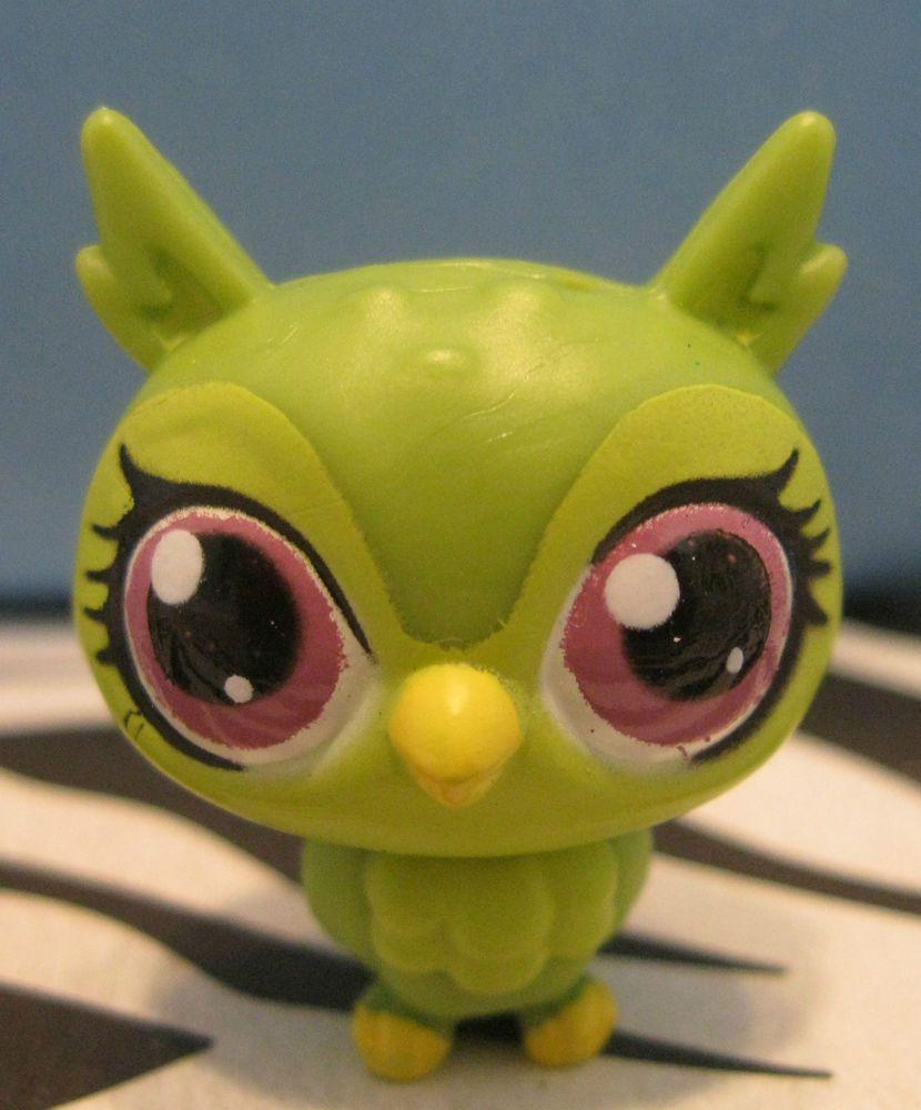 Littlest Pet Shop #3717 Green Baby Owl #Hasbro