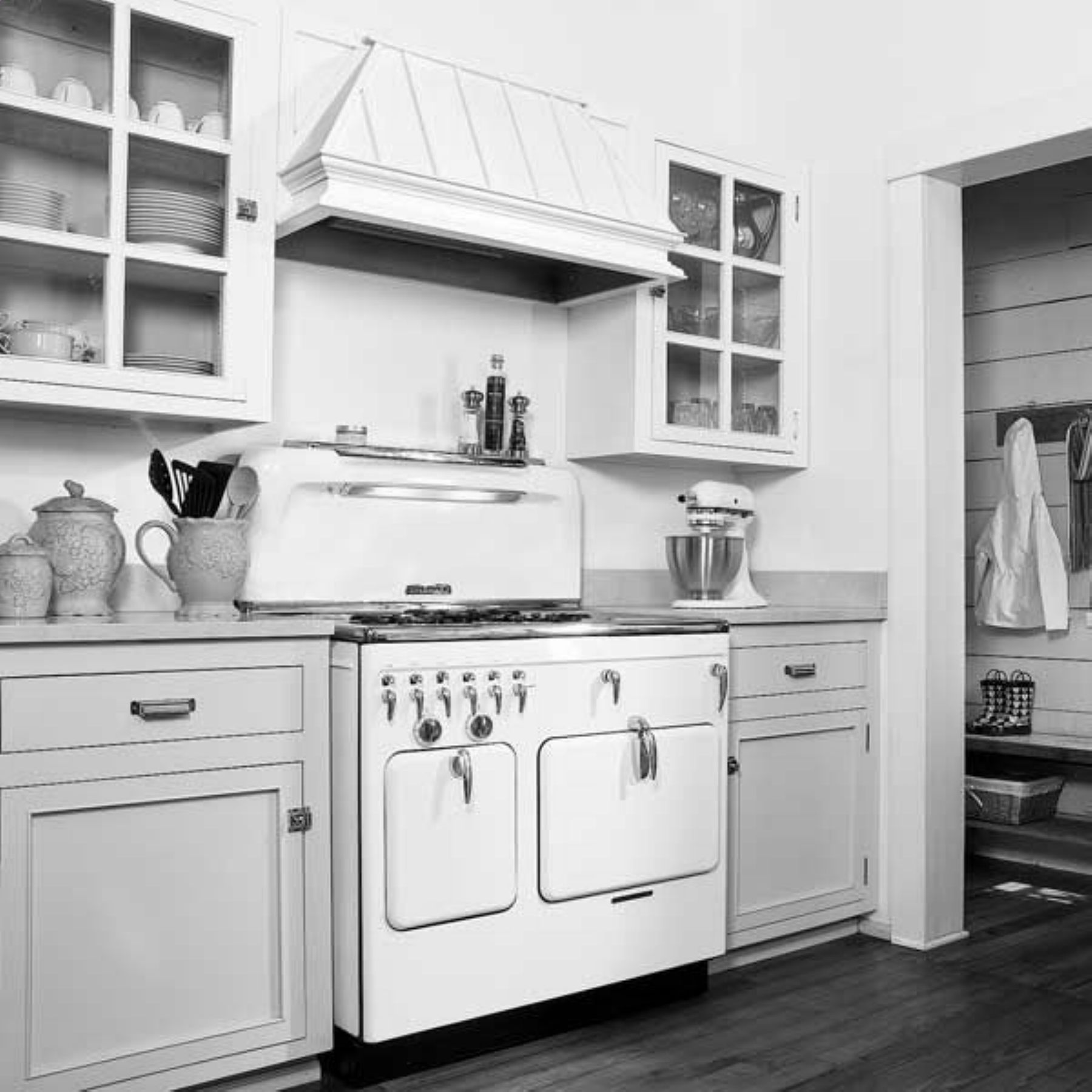 twotoned painted inside to match, butcher block