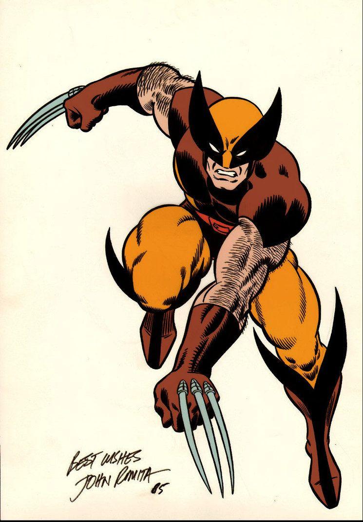 Wolverinebrowncostumebyjohnromitasr My Superheroes Wolverine Art Marvel Comics