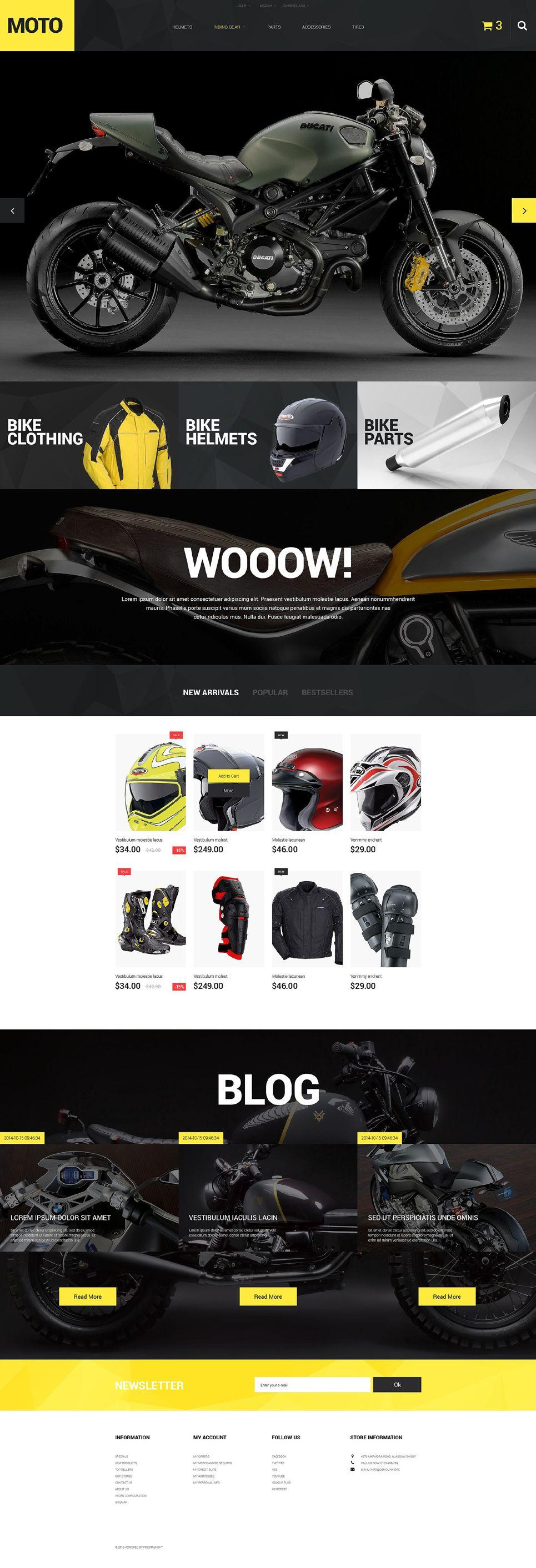 Motorcycle Store Prestashop Theme Prestashop Ecommerce