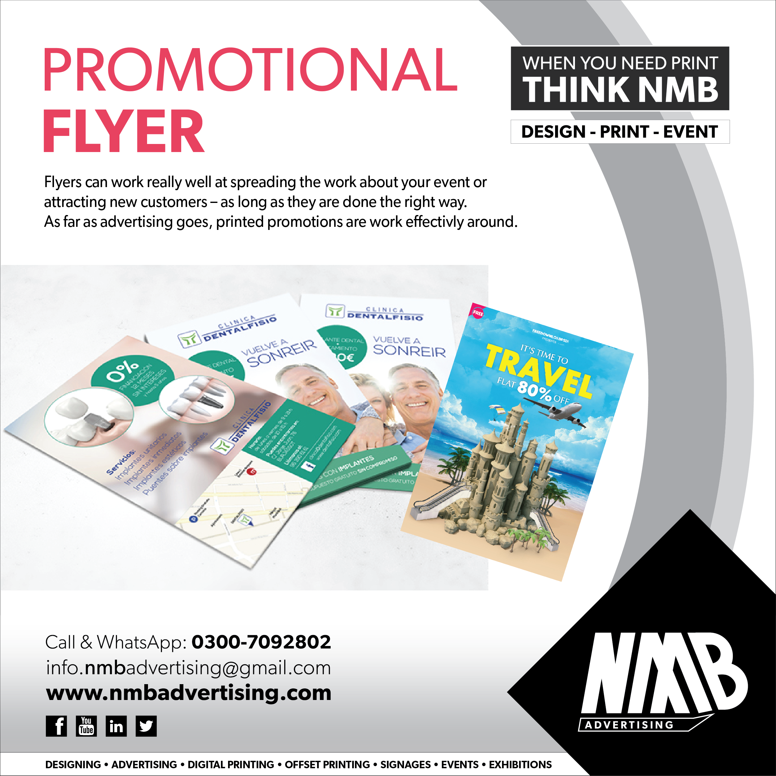 Promotional Flyer Digital Printing Services Promotional Flyers Event Flyers