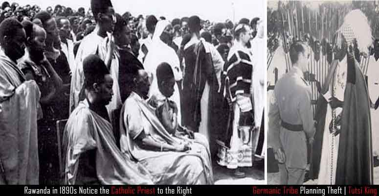 Those placed into the Tutsi group were said to have converted to Catholicism much easier than the others. The Europeans favored them for this even though the Rwandan population were primarily all of the same race. Hutus on the left can be seen in masses as the majority population. The smaller minority of Tutsi elites enabled the Germans and Belgians to maintain control over them much more efficiently.