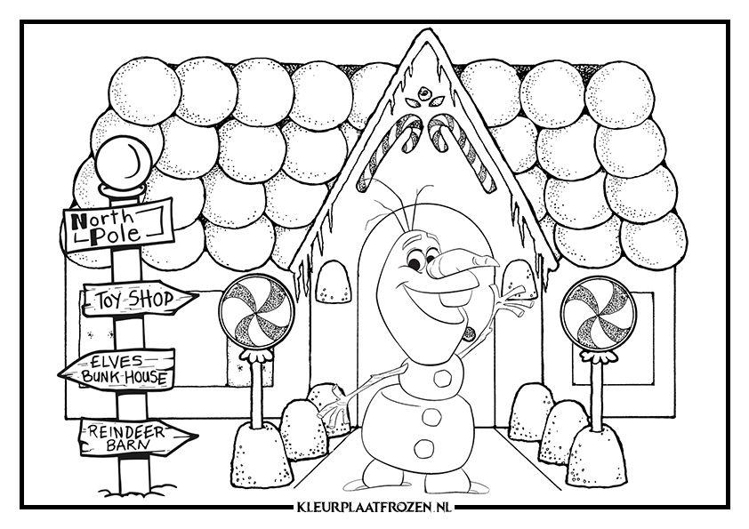 Kleurplaten Kerstmis Frozen.Kleurplaat Van Olaf De Sneeuwpop Uit Disney S Frozen