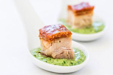 Pork belly canape – Recipes – Bite | entree | Pork ...