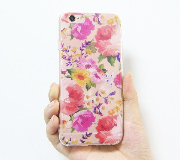 Rose Floral iPhone 6s 6 Clear Case Crystal iPhone 6s 6 plus Transparen – Acyc