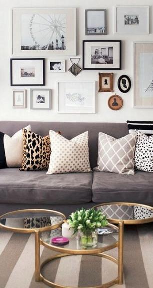 sch ne kissen kombi home sweet home hogar decorar salas decoraci n hogar. Black Bedroom Furniture Sets. Home Design Ideas