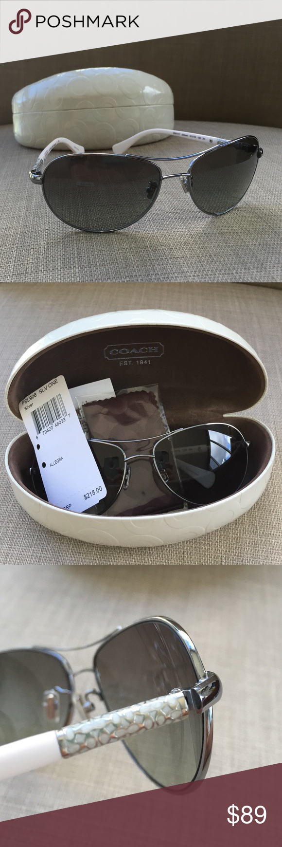 b8d8bf191e ... canada nwt coach aviator sunglasses allegra nwt perfect condition  classically designed and 00f10 6b92d