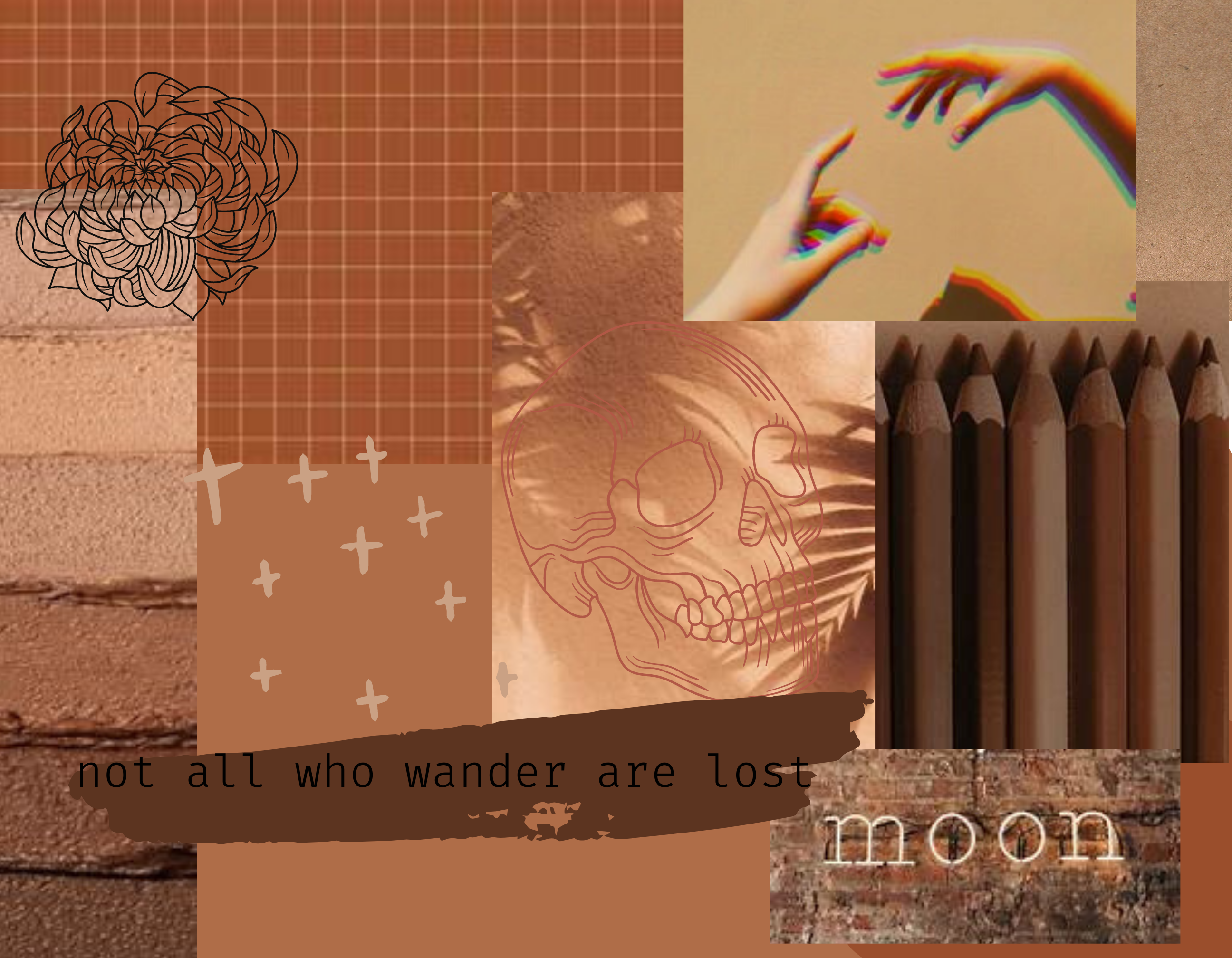 Aesthetic Collage Brown 𝓷𝓸𝓽 𝓪𝓵𝓵 𝔀𝓱𝓸 𝔀𝓪𝓷𝓭𝓮𝓻 𝓪𝓻𝓮 𝓵𝓸𝓼𝓽
